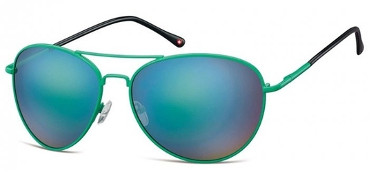 Zielone aviatory okulary lustrzanki ms95c