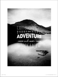 Adventure lets go - plakat premium