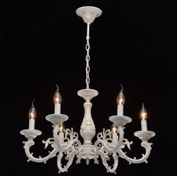 Biały żyrandol ze złotymi elementami w stylu retro aurora mw-light classic 371011206