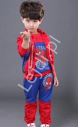 Niebiesko czerwony chłopięcy dres spider man, spodnie+bluza+kamizelka 0252