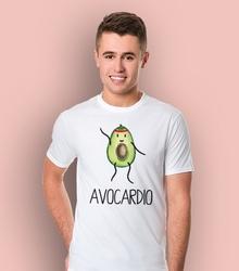 Avocardio t-shirt męski biały l