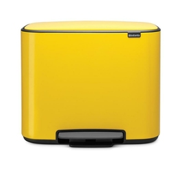 Kosz na śmieci Bo pedałowy 11 l + 23 l żółty