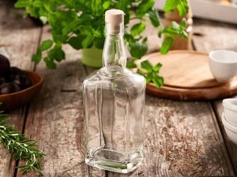 Butelka  karafka do wina i nalewki z korkiem hrastnik jack 700 ml
