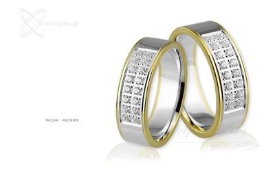 Obrączki ślubne - wzór au-685