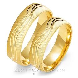 Obrączki ślubne złoty skorpion – wzór au-o111