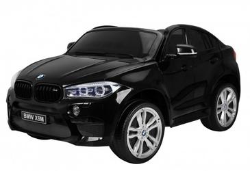 Duży dwuosobowy samochód na akumulator BMW X6M Czarny Lakier Metalik + PILOT