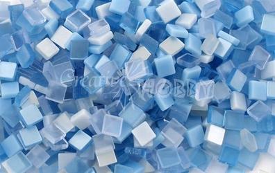 Mozaika ton in ton niebieska 5x5 mm - 700 sztuk - NIE