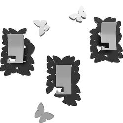 Wieszaki ścienne dekoracyjne Butterflies CalleaDesign czarne 50-13-4-5