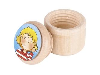 Drewniany pojemniczek na pierwszy pukiel włosów