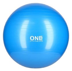 Piłka gimnastyczna gym ball 10 65 cm niebieska - one fitness - 65 cm