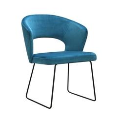 Nowoczesne krzesło tapicerowane klemens u na metalowych nogach