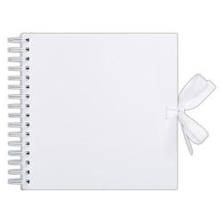 Album, baza do zdobienia 30,5x30,5 cm biały 40 kart - biały