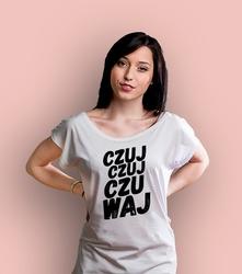 Czuj, czuj, czuwaj t-shirt damski biały xxl