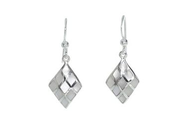 Kolczyki srebrne z masą perłową