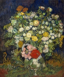 Bouquet of flowers in a vase, vincent van gogh - plakat wymiar do wyboru: 40x50 cm
