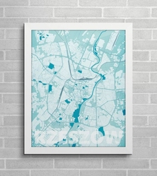Rzeszów - błękitna mapa