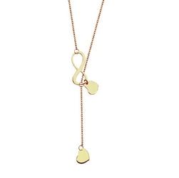 Staviori naszyjnik nieskończoność i serce 42cm. żółte złoto 0,333. wymiary 6x5 mm. wymiary 14x6 mm