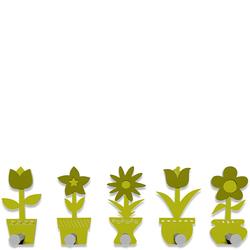 Wieszak ścienny Little Flowers CalleaDesign cedrowo-zielony 13-003-51