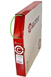 Pancerz hamulca clarks 2p 5mm z teflonem zielony na metry