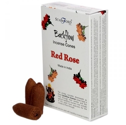 Róża - kadzidełka stożkowe typu backflow op. 12 szt