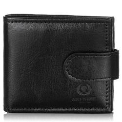 Skórzany mały portfel męski paolo peruzzi ga171 czarny - czarny