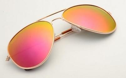 Okulary pilotki złoto pomarańczowe aviator przeciwsłoneczne 2163h