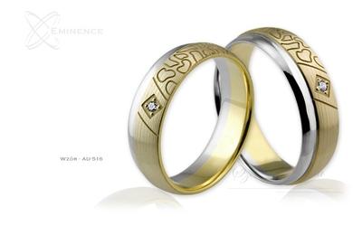 Obrączki ślubne - wzór au-516