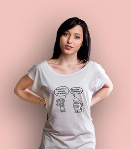 Przecież w sam raz  t-shirt damski biały xxl