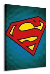 Dc comics superman symbol - obraz na płótnie