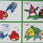 Naklejki zestaw naklejek angry birds rio