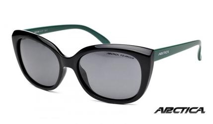 Okulary damskie arctica s-236 czarno-zielone z polaryzacją