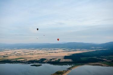 Romantyczny lot balonem dla dwojga - łódź