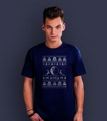 Merry sithmas t-shirt męski granatowy xxl