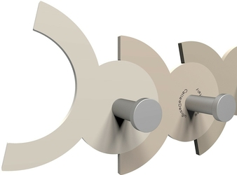 Wieszak ścienny diennea calleadesign czarny, aluminiowy 13-014-5