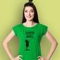 Dziewczynka - często marzę. t-shirt damski zielony m