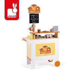 Mobilna drewniana cukiernia z 40 akcesoriami, janod