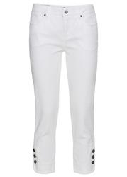 Wygodne dżinsy ze stretchem 78, slim fit bonprix biały twill