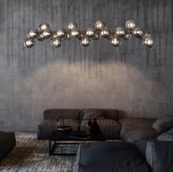 Lampa wisząca szklane bańki z ciemnego szkła 25 sztuk dallas maytoni modern mod547pl-25ch