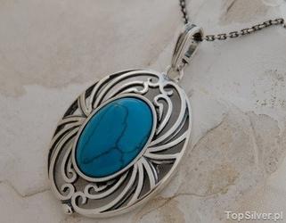 Split - srebrny wisior z turkusem