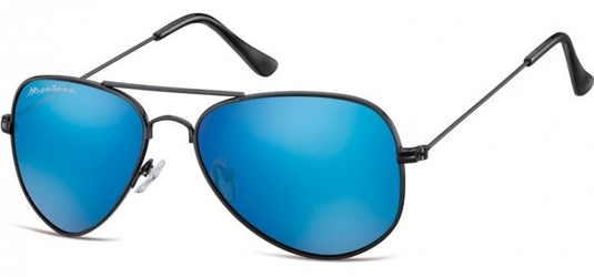 Czarno niebieskie pilotki okulary lustrzane aviator ms94f
