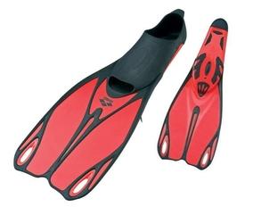 Płetwy młodzieżowe arena sea discovery jr czerwono-czarne