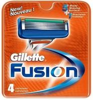 Gillette fusion manual, wkłady do maszynki do golenia, 5 ostrzy, 4 sztuki