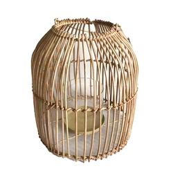 Lampion  latarenka rattanowa altom design 24 x 26,5 cm