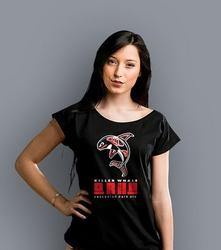 Orka killer whale t-shirt damski czarny xxl