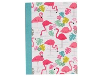 Flamingi zeszyt w linie a6