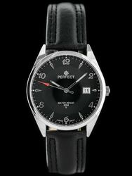 Zegarek na pasku czarnym meski PERFECT C530T - DŁUGI PASEK zp214g