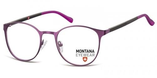 Okrągłe oprawki optyczne pod korekcję mm607f purpurowe