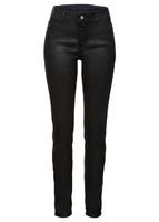 Spodnie ze stretchem i połyskującą powłoką bonprix czarny