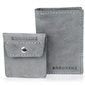 Skórzany zestaw portfel i bilonówka brodrene sw03 + cw02 szary - szary