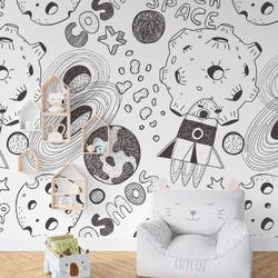 Tapeta dziecięca - abstract cosmos , rodzaj - próbka tapety 50x50cm